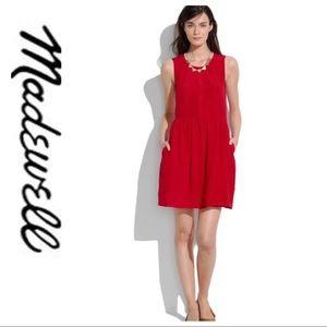 💕SALE💕 Madewell 100% Silk Red Sleeveless Dress